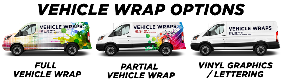 Water Mill Vehicle Wraps & Graphics vehicle wrap options