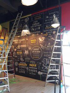 vinyl mural installation
