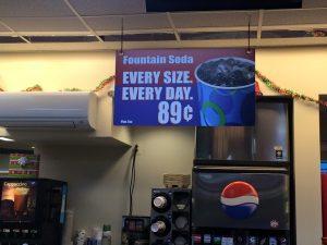 custom promotional indoor signage